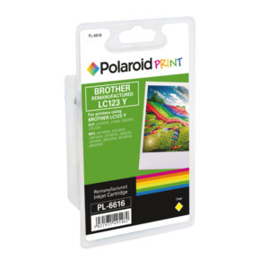 POLAROID BROTHER LC123Y REMAN INK YELLOW