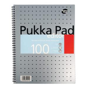 PUKKA EDITOR METALLIC A4 WRITING PAD 80G