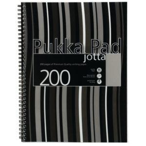 PUKKA A4 JOTTA POLY COVER BLACK STRIPY