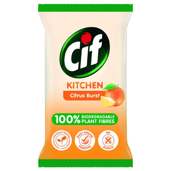 CIF BIO KITCHEN WIPES 80 SHEETS PK6