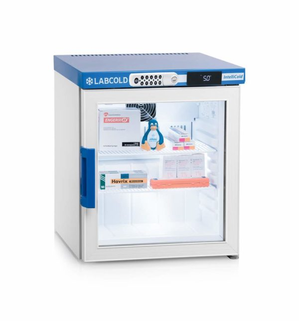 Labcold 36L Glass Door Bench Top Pharmacy Refrigerator-RLDG0119 with Digital Lock