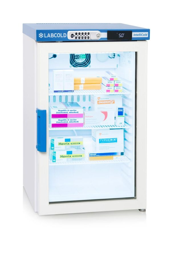 Labcold 66L Glass Door Bench Top Pharmacy Refrigerator-RLDG0219 with Digital Lock