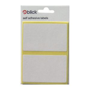 BLICK LABEL BAG 50X80 WHT PK14 000457