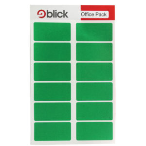 BLICK COLOUR LABEL FP 25X50 GRN PK320