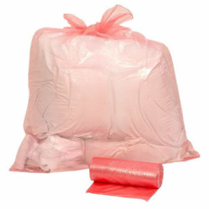Red Soluable Laundry bag/sack, Light duty 50L x 200