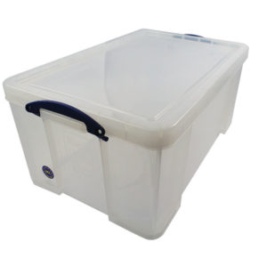 REALLY USEFUL OFFICE BOX CLEAR 64LT 64C