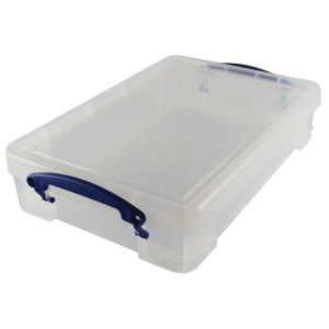 REALLY USEFUL 4L BOX FOR A4 PAPER CLEAR