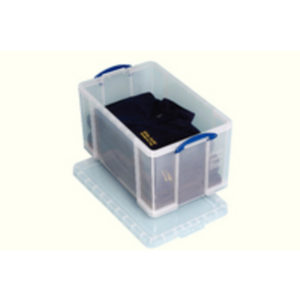REALLY USEFUL 84 LITRE BOX WITH LID CLR