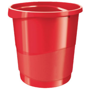 REXEL WASTE BIN CHOICES RED