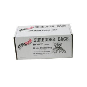 SAFEWRAP SHREDDER BAGS 40 LITRE PK100