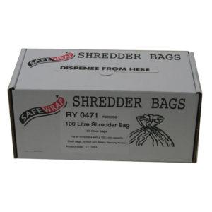 SAFEWRAP SHREDDER BAGS 100 LITRE PK50