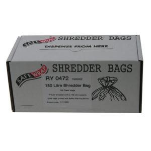 SAFEWRAP SHREDDER BAGS 150 LITRE PK50