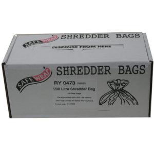 SAFEWRAP SHREDDER BAGS 200 LITRE PK50