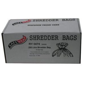 SAFEWRAP SHREDDER BAGS 250 LITRE PK PK50