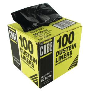 LE CUBE DUSTBIN LINERS 80L PK100