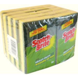 SCOTCH BRIGHT WASH UP SCOUR SPONGE PK10