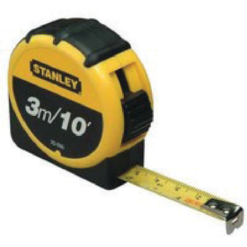 STANLEY TAPE MEASURE 3M/10FT YELLOW