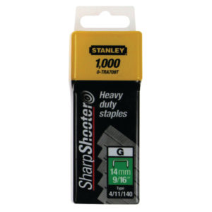 STANLEY 10MM STAPLES PK1000 1-TRA706T