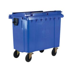 1100L BLUE WHEELED BIN / LID 377394394