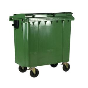 1100L GREEN WHEELED BIN / LID 377397395