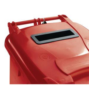 120L LOCKED RED WHEELIE BIN 377902 02