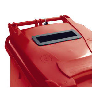 140L LOCKED RED WHEELIE BIN 377903 03