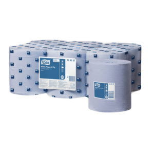 TORK BASIC PAPER CENTERFEED 2 PLY BLUE