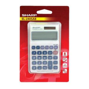 SHARP 8 DIGIT HAND HELD CALC SH-EL240SAB