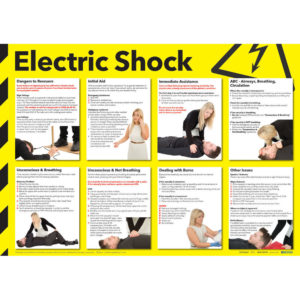 SIGN 420X590 ELECTRIC SHOCK POSTER