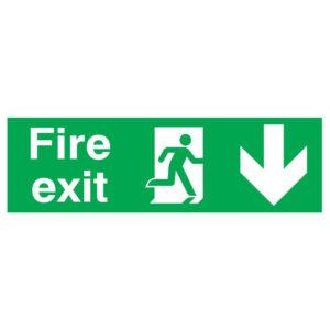 SIGN 150X450 FIRE EXIT R/M ARROW D PVC