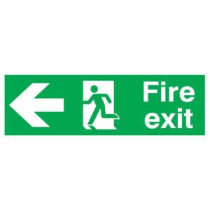 SIGN 150X450 FIRE EXIT R/M ARROW L PVC