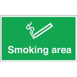 SIGN 300X500 SMOKING AREA PVC
