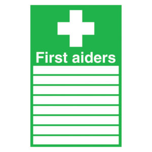 SIGN 300X200 FIRST AIDERS S/A