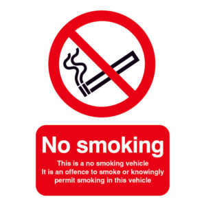 SIGN 100X75 THIS IS A NO SMOKING S/A