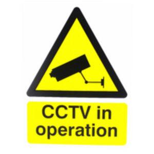 SIGN 400X300 CCTV IN OP PVC