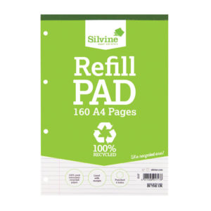 SILVINE EVERYDAY RECYCLD A4 REFILL PAD