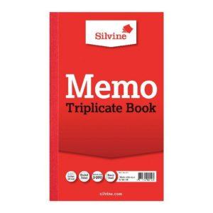 SILVINE TRIPLICATE BOOK 8.1X5 MEMO 605