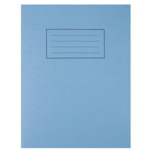 SILVINE 9X7 EXER BOOKS FEINT MARGIN BLUE