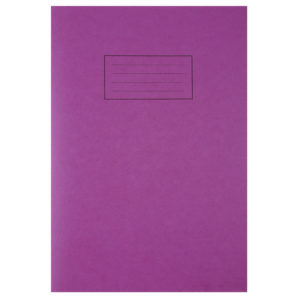 SILVINE A4 EXER BOOK 80PG LINED MARG PUR
