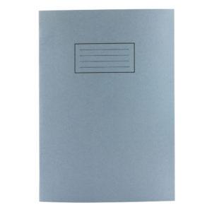 SILVINE A4 EXER BOOK 80PG PLAIN BLUE