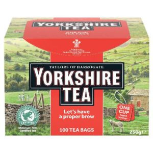 YORKSHIRE TEA STRING AND TAG TEA BG P100