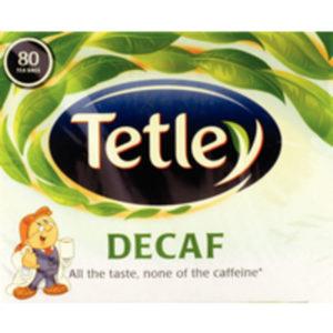 TETLEY DECAFFEINATED TEA BAGS PK80 5012X