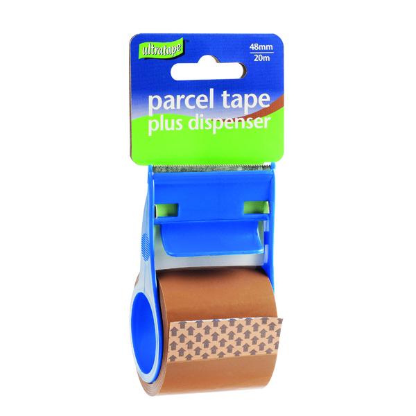 PARCEL TAPE/DISP 48MMX20M BUFF PK12