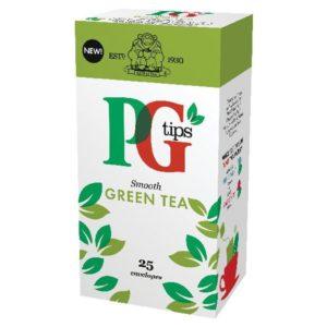 PG TIPS GREEN TEA ENVELOPE BOX 25