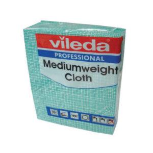VILEDA MEDIUM WEIGHT CLOTH GREEN PK10 10