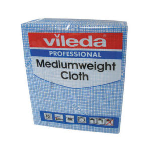 VILEDA MEDIUM WEIGHT CLOTH BLE PK10 1063