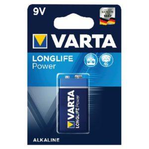 VARTA HIGH ENERGY BATTERY 9V PK 1