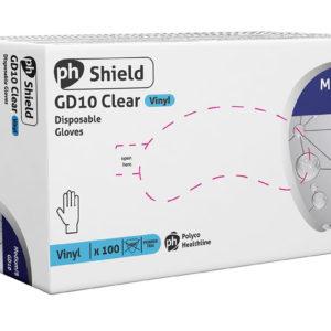 Shield Vinyl gloves Powder Free Exam Gloves - Small x 100