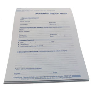 WALLACE ACCIDENT REPORT BOOK A5 5401009