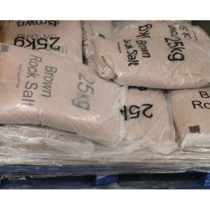 DRY BRN ROCK SALT 25KG BAG 10 BAGS GS